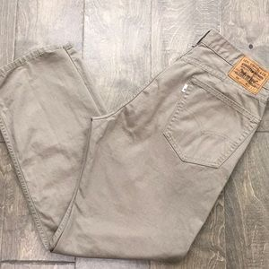 Khaki colored Levi's 505